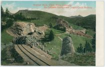 Sentinel Rock, Clyde Park, Colorado   On Colorado Springs and Cripple Creek Railway