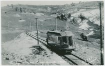 Trolley on Low Line About 1905 [Near the Big Cut on the Low Line North of Anaconda]