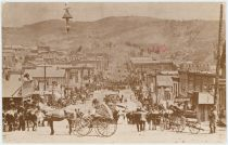 "CRIPPLE CREEK, COLORADO - Bennett Ave. At First St. - July, 1893 ""Population 10,000"""