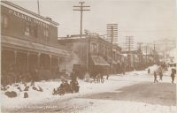 CRIPPLE CREEK, COLORADO - Winter 1895. Picture Taken From Second and Bennett / Site of New J.H. Wolfe Hotel, Bennett Ave. Cripple Creek