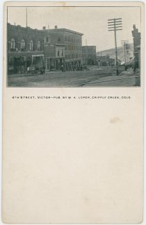 4th Street, Victor - - Pub. By W. A. Loper, Cripple Creek, Colo.