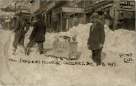 How Fraziers Delivered Groceries. Dec., 6, 1913. Victor Colo.