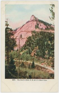 The Devil's Slide. Colo. Springs & Cripple Creek Short Line.