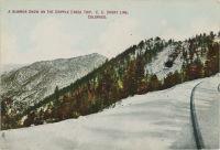 A Summer Snow on the Cripple Creek Trip, C.C. Short Line, Colorado.