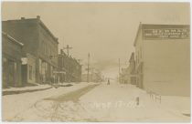 A Summer Snow View Up Ninth Street of Goldfield, Colorado