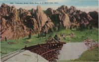 Cathedral Rocks, Clyde Park, C. C. Short Line, Colo.