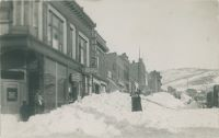 Snow Scene on Bennett Avenue at Corner with North Third Street, Looking East, After the Great Front Range Snow Storm of Dec. 4-6, 1913