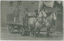 A View at Men on a Supply Wagon, Said to Be at the Teller County Mining Company