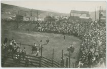 Victor Rodeo at Ballpark/Playgrounds with Lots of Spectators Around, Looking Southeast