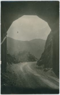 View Out of Tunnel Along Corley Mountain Road, Former Short Line