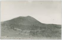 View Towards Brind Mountain, southeast of Victor Colorado. F. & C.C. Tracks Can Be Seen Near the Base of the Mountain.