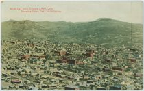 Birds Eye View Cripple Creek, Colo. Showing Pikes Peak in Distance.