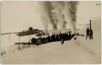Snow Plowing With Rotary on the Trolley Line in the Cripple Creek District After the Big Snow Storm Around Dec. 3, 1913