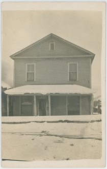 A Foot of Snow Covering Ground and House No. 126, Most Likely in Cripple Creek Town on June 17, 1912